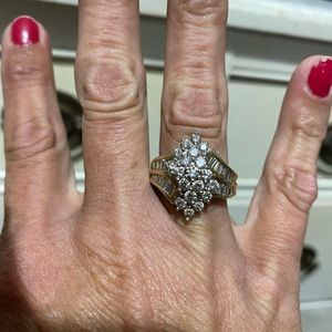 14kt genuine diamond ring